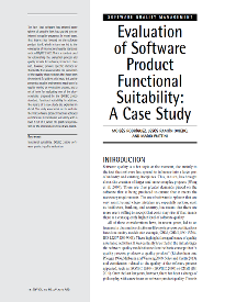 Evaluation of Software Product Functional Suitability: A Case Study